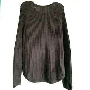 H&M Sweaters - H&M Long Sleeve Black Knit Chunky Crew Sweater L